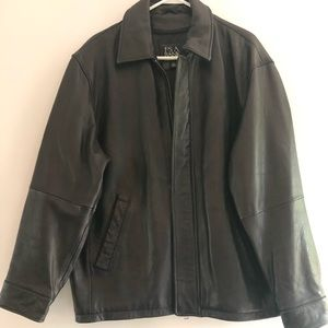 Jos. A Bank (L) soft genuine leather men's bomber